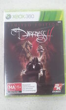 The Darkness II 2 Limited Edition Xbox 360 New and Sealed AUS PAL Version