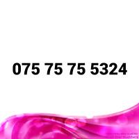 075 75 75 5324 EASY MOBILE NUMBER GOLD DIAMOND PLATINUM VIP BUSINESS SIM CARD