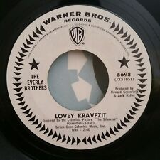 Everly Brothers Warner Brothers 5698 LOVEY KRAVEZIT (PROMO 45) VG++ PLAYS GREAT