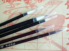 5 Chinese GOAT M2S WOLF 2S HAIR BRUSH WRITING PAINTING JAPANESE CRAFT - BLACK A9
