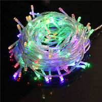 32ft 100 LED Christmas Tree Fairy String  Lights Lamp Waterproof Multicolor A11