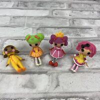 LalaLoopsy Mini Doll Lot Of 4 Dyna Might April Sunsplash Peanut Crumbs Sugar
