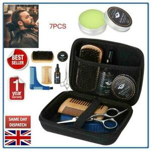 7pcs Beard Brush and Comb Hair Care Set for Men Grooming Trimming Styling Kits