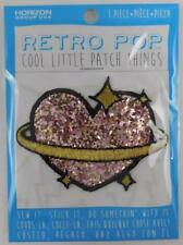 Retro Pop Cool Little Patch Things Pink Glitter Heart New