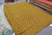 "Vintage Large Handwoven Ewe Kente Cloth Ghana Africa Ethnic Textile 93"" x 128"""