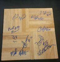 UNIVERSITY OF ARIZONA NCAA 2007-8 BASKETBALL TEAM SIGNED FLOORBOARD W/COA+PROOF