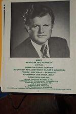 Ted Kennedy For President Flyer Irish Cultural Center SF 1980 Joe O'Sullivan