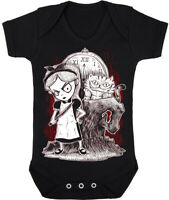 Kids Baby Grow Suit Gothic Alice in Wonderland punk rock goth