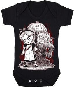 Kids Baby Grow Suit Gothic Alice in Wonderland punk rock goth
