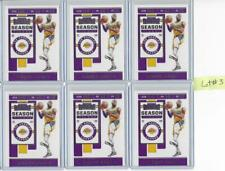 2019-20 Contenders Lebron James 6 Card Lot Lakers #3
