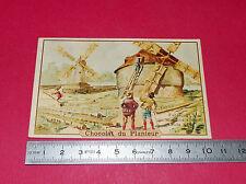RARE CHROMO 1890-1900 CHOCOLAT DU PLANTEUR FABRICANT MOULINS A VENT LOUIS XIV
