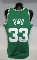Larry Bird Signed Mitchell & Ness Swingman Jersey Boston Celtics Green  PSA COA
