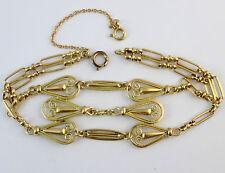 Très beau bracelet ancien maille filigrane en or massif 18k 19g