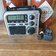 Midland Emergency Survival AM FM Weather Alert Crank Power Radio ER102 w PS