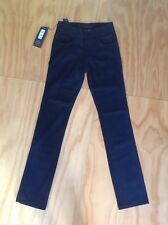 Wrangler Cigarette Jeans Black Button Fly 28x34 New