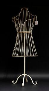 9977333 Kleider-Ständer Kind Schneiderpuppe Metall weiß shabby chic H90cm
