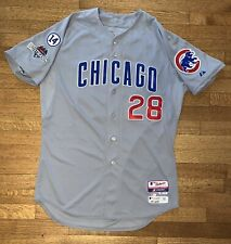 2015 Chicago Cubs Kyle Hendricks Game Used Grey Postseason Jersey MLB Hologram