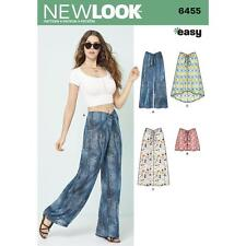 NEW LOOK SEWING PATTERN MISSES' TIE FRONT PANTS, SHORTS & SKIRTS SIZE 10-22 6455