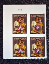 2018USA #5337 Forever - Kwanzaa - Plate Block of 4 - Mint christmas holiday