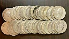 ROLL OF SILVER WASHINGTON QUARTERS -- 40 COINS -- $10 FACE VALUE -- LOT #9