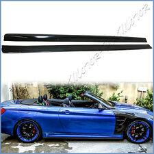 Fit BMW 14+ F32 F33 F36 4-Series M-Sports 3D Look Carbon Fiber Side Skirt Lips