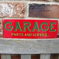 GARAGE ENAMEL SIGN logo garage petrol oil vitreous porcelain small VAC197