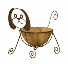 Panacea 86656 Dog Planter with 10-Inch Coco Liner, Rust Powder Coated Finish