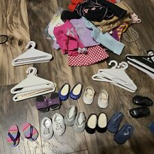 Huge Lot of American Girl clothes, shoes, hangers