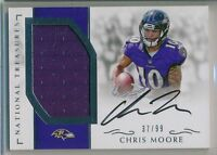 CHRIS MOORE 2016 National Treasures Rookie Jersey AUTO /99  - Ravens RC