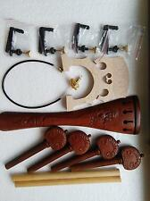 1 Set Carved Jujube Cello Fitting with Bridge Fine tuner and Cello gut 4/4