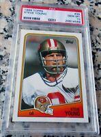 STEVE YOUNG 1988 Topps 1st 49ers Card PSA 10 GEM MINT 3 Superbowl Rings HOF $$$