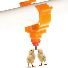 Chicken Drinker Automatic Poultry Water Nipple Safe Feeder Chick Duck Hen 10PCS