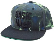 Basic Math Palm Leafy Flat Bill Snapback Cap Hat
