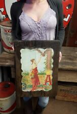 Budweiser Beer Sign Vintage Bar Signs 1 girl tacker Anheuser-Busch Brewery