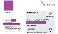 GamesCom Ticket 2017 Freitag 25.08.2017 ermäßigt - Versand via eMail