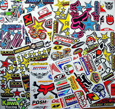 12 mixed sheets motocross stickers rockstar mx energy drink bike bmx hot deal