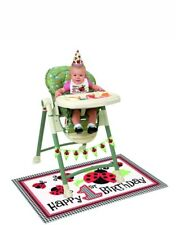 1st first Birthday Boys Girls baby High Chair Kit Birthday Party Decoration