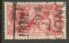 King George V - 5s  Red Seahorse - Bradbury Wilkinson - Good