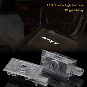 White Logo Car Door LED Projector Laser Shadow Light For Dodge Charger SRT 06-20