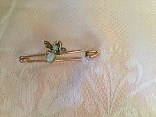 Antique vintage 9ct Rose Gold Bee Brooch Opals Pearls missing eye gem and pearls