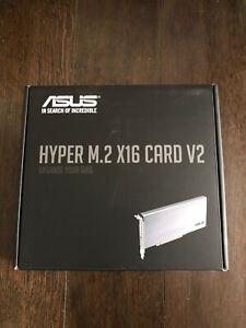 NEW Asus Hyper M.2 Pcie x16 4x NVMe RAID Card - Supports 4 NVMe Drives