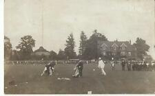 NORTHWOOD MIDDLESEX - PIERROT & PEOPLE IN COSTUME IN THE PARK 1906 REAL PHOTO PC