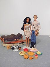 MATTEL DISNEY POCAHONTAS BARBIE DOLL AND JON KEN DOLL W/ CLOTHES & ACCESSORIES