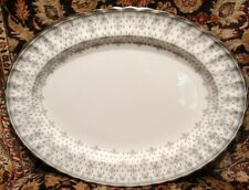 "Spode FLEUR DE LYS GREY (BONE) 14 5/8"" Oval Serving Platter"