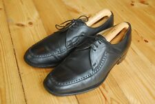 Men's Black Leather New Fontwell Shoes by Loake UK 8.5 EEE Extra Wide