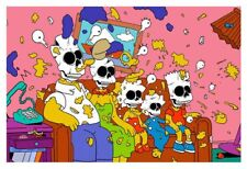 NEW  Simpsons Nuclear Family Print Matt Gondek Hand Signed Non Numbered