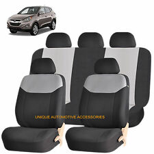 GRAY ELEGANT AIRBAG COMPATIBLE SEAT COVER SET for HYUNDAI ELANTRA ACCENT