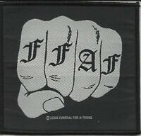 FUNERAL FOR A FRIEND fist 2004 - WOVEN SEW ON PATCH official no longer made