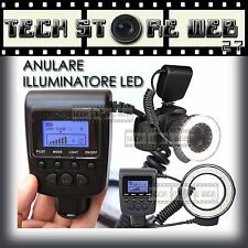 ILLUMINATORE FLASH ANULARE  48 LED REGOLABILE PER FOTO O VIDEO NIKON CANON FUJI