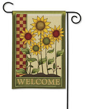"12.5"" x 18"" Simply Sunflowers Country Welcome Small Decorative Banner Flag"